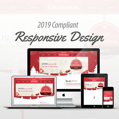 2018 Compliant Mobile Responsive Ebay Auction Listing Template Merry Christmas