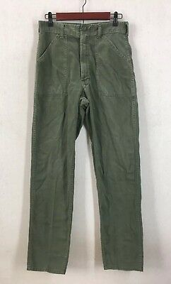 Vintage 70's US Military Army Olive Green Cotton Sateen Combat Pants Sz S/M