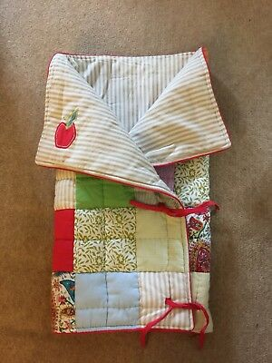 GIRLS MAMAS AND PAPAS PATCHWORK QUILT Excellent Condition