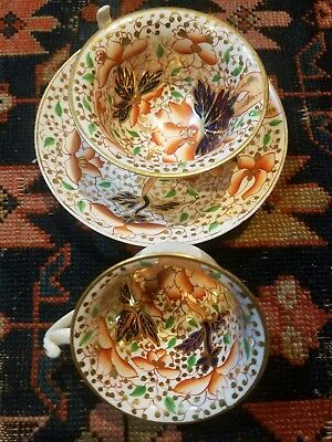 Early 19th Century Darby IMARI  2 teacup And  1Saucier