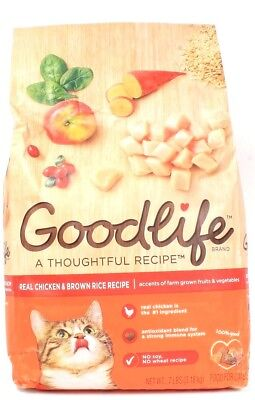 1 Good Life A Thoughtful Recipe Chicken Brown Rice No Soy Wheat Cat Food 7 LBS