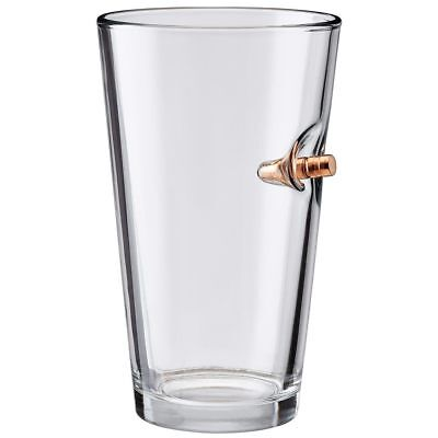 The Original BenShot Pint Glass with Real Bullet Made in the USA- 16oz