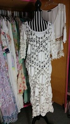 chuckles and boo antique lace  dress