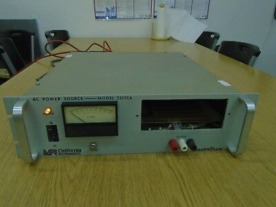 California Instruments 251TCA 250VA AC Power Source (Works!)