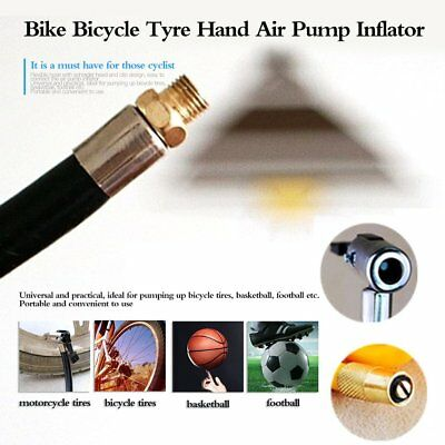 Bike Bicycle Tyre Tire Hand Air Pump Inflator Extension Replacement Hose Tube E2