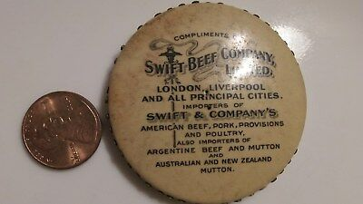 Rare Vintage Advertising Mirror Swift Beef Company London Mutton Australia