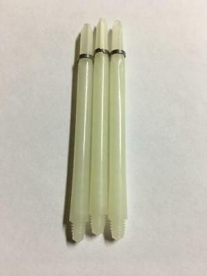 WHITE NATURAL NYLON EXTRA LONG 65mm  DART SHAFTS