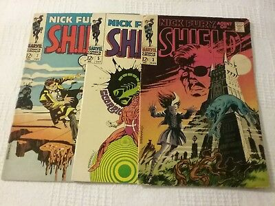 Nick Fury, Agent of SHIELD #3, #5, #7 Good/Very Good Cond. View Photos
