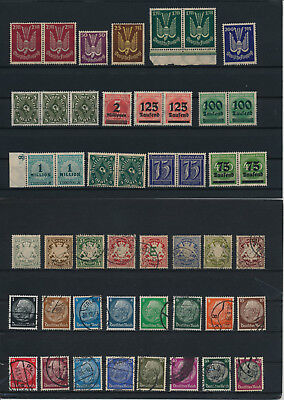 Germany, Deutsches Reich, Nazi, liquidation collection, stamps, Lot,used (KB 11)