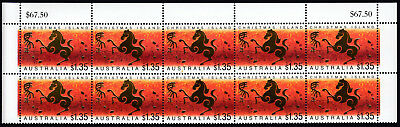 2002 Australia Christmas Island $1.35 Year Of The Horse Top 2 Rows Mnh