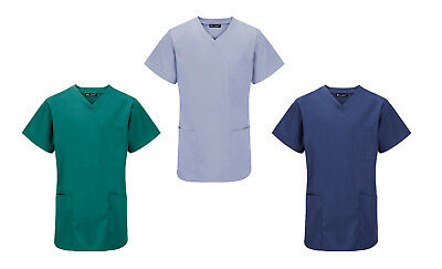 New Unisex Medical Hospital Surgical Operating Doctor Vets Scrub Tunic Top