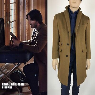 Keanu Reeves Screen Worn Cashmere Coat Siberia the Movie - Original Custom Made
