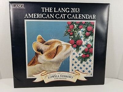 2013 Lang/Lowell Herrero Cats 12-month Wall Calendar, Very Gently Used