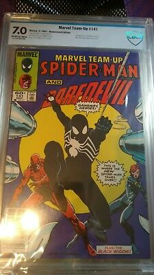 Marvel Team Up #141 CBCS 7.0 (not CGC) Spiderman Black Costume debuts