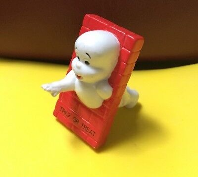 1989 CASPER THE FRIENDLY GHOST Trick or Treat PVC Toy Figure NEW OLD STOCK