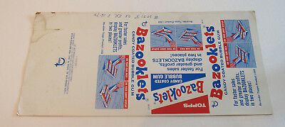 Bazooklets Candy Coated Bubble Gum Unfolded Box 24 Count by Topps