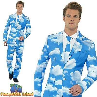 Sky High Suit Stand Out Comic Funny Novelty Stag Do Mens Fancy Dress Costume