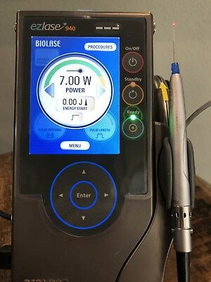 Biolase ezlase 940 Dental Laser with limited warrantyand one pre-initiated tip