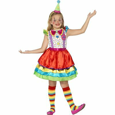 Deluxe Clown Circus Carnival Cute Girl Childs Kids Girls Fancy Dress Costume
