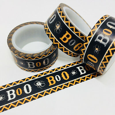 Washi Tape Wide Boo Halloween 20Mm X 5Mtrs Craft Wrap Planner Mail Art
