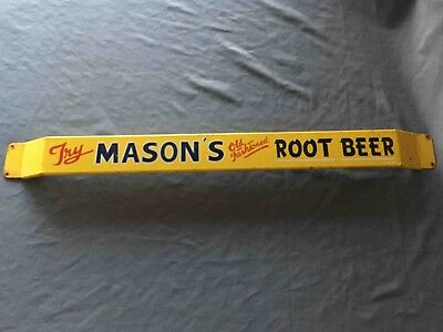 Old Try Mason's Old Fashioned Root Beer Advertising Soda Door Push Bar
