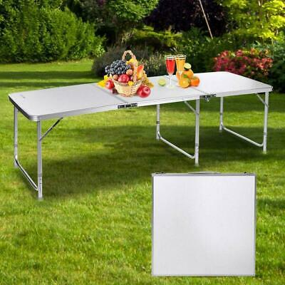 6Ft Game Portable Aluminum Folding Table Party Outdoor Camping Dinner Table