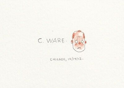Chris Ware - Mini Self Original Art Sketch