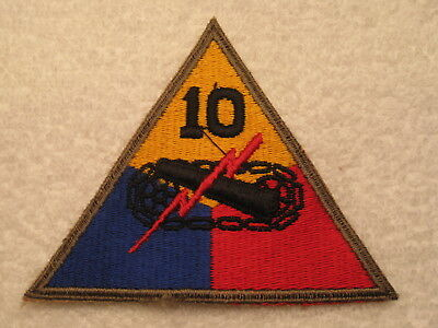 Us Army Wwii 10Th Armored Division Mint Vintage Real Deal Original Patch