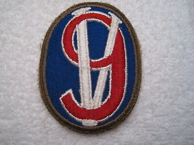 """US ARMY WWII 95th """"VICTORY"""" INFANTRY DIVISION GREEN BORDER & TOTAL MINT PATCH"""