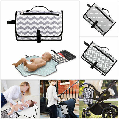 1× Waterproof Portable Baby Diaper Folding Mat Kid Travel Bag Changing Cover Pad
