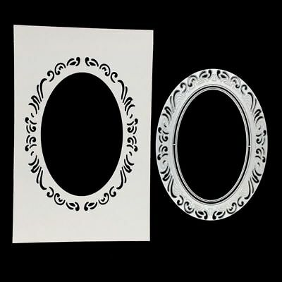 Oval Lace Cutting Dies Stencil DIY Scrapbooking Album Embossing Paper Card Craft