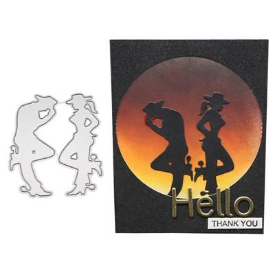 Dancing Couple Cutting Dies Stencil DIY Scrapbooking Paper Card Embossing Craft