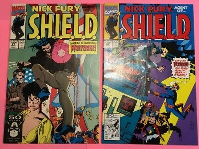 Nick Fury: Agent of SHIELD (1991 Marvel Comics) #27 & #29 w/ Wolverine