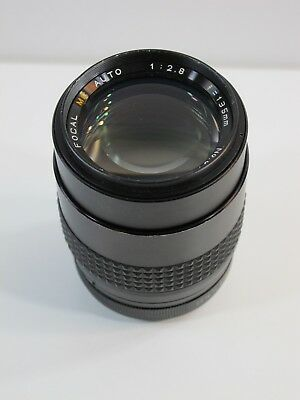 Focal MC Auto Lens Mount 1:2.8 f=135mm No.8110494 55 Made in Japan