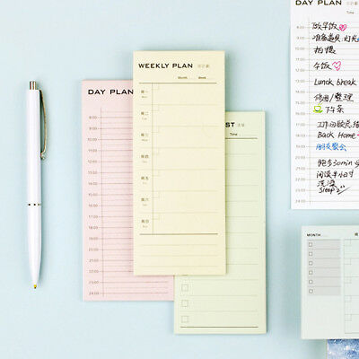 Day Week Plan Month Detailed list Notepad Daily Memo Planner Sticky Note Office