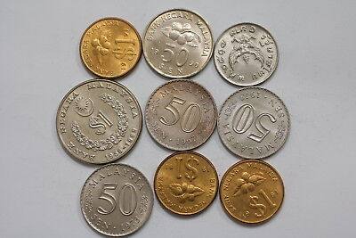 Malaysia Coins Lot Mostly High Grade A98 Wh28