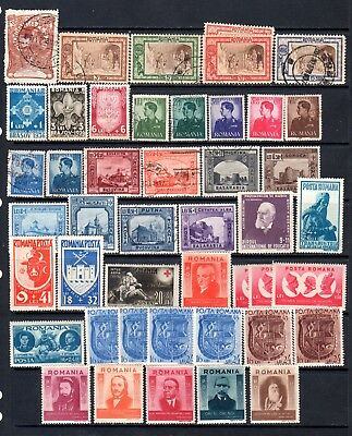 Romania very nice lot of semi postal stamps MNH , MH and used take a look
