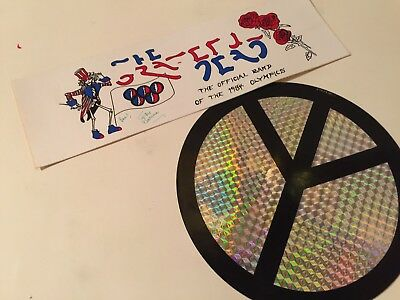 """""""grateful Dead"""" Jerry Garcia 1984 Olympics Vintage Special Rock Group Stickers"""
