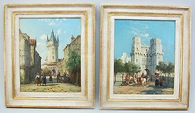Fine Pair of English Oil Paintings  WILLIAM RAYMOND DOMMERSON  c. 1880