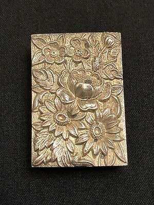 S Kirk & Son Repousse Sterling Silver Ornate Match Safe Box Holder 90F