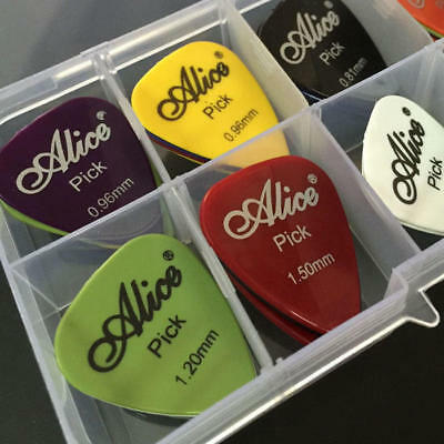 40Pcs Electric Guitar Bass Picks Acoustic Music Pick Plectrum Assorted Thickness