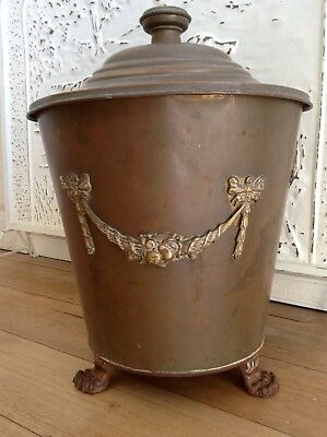 Vintage Brass 3 Piece Ash/coal Fire Place Bucket Shuttle.