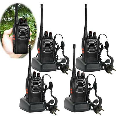 4er Baofeng BF-888S + 4*Headset UHF CTCSS/CDCSS Hand-Funkger  Walkie-Talkie