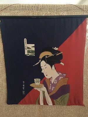Japanese Vintage Silk Wall Hanging