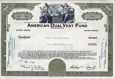 American Dual Vest Fund Incorporated, Delaware, 1967  (1.000 Shares )