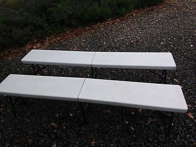 Foldable approx 6ft 1.8 m Used Camping Benches Picnic Bbq Party Chairs Caravan