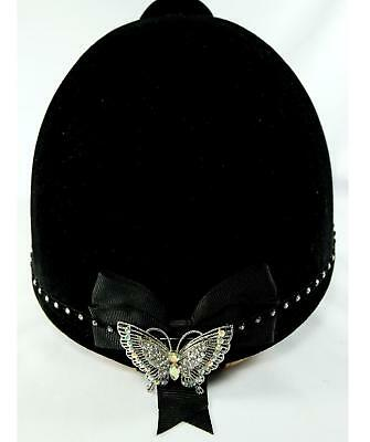 Stunning Crystal Butterfly Hat Band Showing Dressage,Presentation Box Horse Pony
