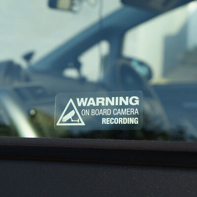 Uk Warning On Board Camera Recording Car Sticker Vinyl Decal Truck Window