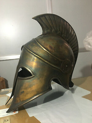 Collectibles Ancient Greek Spartan Corinthian Bronze Armour Helmet Replica item