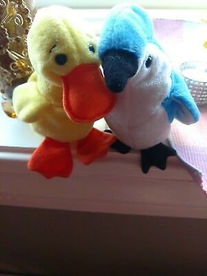 *RARE- retired beanie baby babies 2 INCLUDED* Rocket & Quaker
